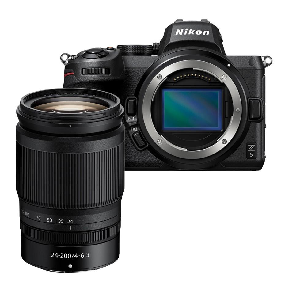 Nikon  Z 5 + Z 24-200 f4 Menù Italiano 2/4  Anni Garanzia Italia -Spedita in 24 Ore