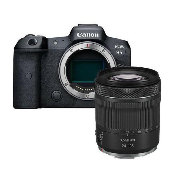 Canon R5 CORPO+ RF 24-105 IS STM – 2/4 Anni Garanzia in Italia- Lingua Italiana